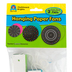 Teacher Created Resources, Chalkboard Brights Hanging Paper Fans, Multi-Colored, Set of 3