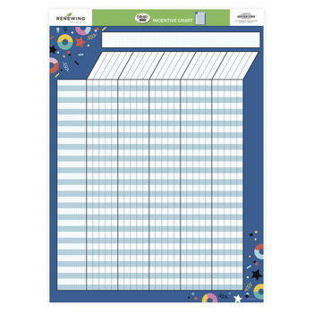 Colorfetti Collection, Customizable Incentive Chart, 17 x 22 Inches, 1 Each