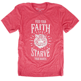 NOTW, Feed Your Faith, Men's Short Sleeve T-Shirt, Red Heather, S-2XL