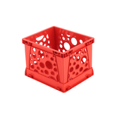Storex, Micro Crate, Red, 5.80 x 6.75 x 4.80 Inches, 1 Piece