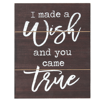 Brother Sister Design Studio, I Made A Wish & You Came True Wall Plaque, MDF, 11 3/4 x 9 1/2 inches