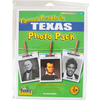 Gallopade, Famous People from Texas Photo Pack, Hardcover, 12 Pages, Grades K-12