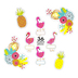 Schoolgirl Style, Simply Stylish Tropical Welcome to the Flock Bulletin Board Set, 54 Pieces