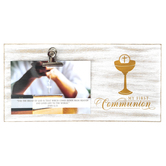 Dicksons, My First Communion Photo Clip Plaque, Holds 6 x 4 Photo, 11 3/4 x 5 7/8 x 7/16 inches