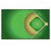 Flagship Carpets, Activity Baseball Field Rug, Green and Light Brown, 5 x 8 Feet