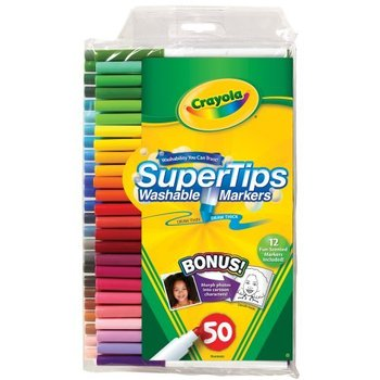 Crayola, SuperTip Washable Markers, Assorted Colors, 50 Count
