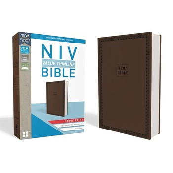 NIV Value Thinline Bible, Large Print, Imitation Leather