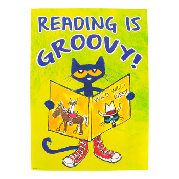 Teacher Created Resources, Pete the Cat Reading Is Groovy Positive Poster, 13.37 x 19 Inches, 1 Piece