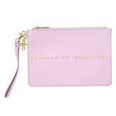 Christian Brands, Everything Beautiful Zippered Pouch, Faux Leather, Lavender, 9 1/2 x 7 3/4 inches