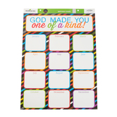 Chalk Talk Collection, Christian Birthday Chart, Customizable, 17 x 22 Inches, Multi-Colored, 1 Each