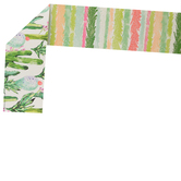Renewing Minds, Wide Double-Sided Border Trimmer, 38 Feet, Coral and Cactus