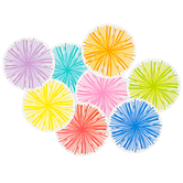 Schoolgirl Style, Hello Sunshine Poms Cut-Outs, 5 Inches, 8 Colors, 36 Pieces
