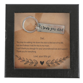 His & Hers, I Love You Dad Father Of The Bride Key Chain, Silver, 1/2 x 1 3/4 inches