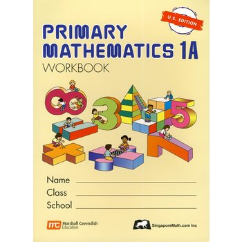 Singapore Math, Primary Math Workbook 1A, U.S. Edition, Paperback, 96 Pages, Grades 1-2