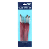 The Fine Touch, Value Paint Brush Set, 10 Paint Brushes