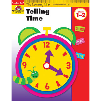 Evan-Moor, Learning Line Activity Book: Telling Time, 32 Pages, Grades 1-2