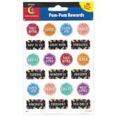Creative Teaching Press, Pom-Pom Reward Stickers, Multi-Colored, 105 Stickers
