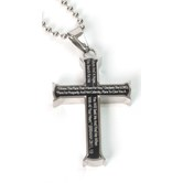 Spirit & Truth, Jeremiah 29:11 Cross Necklace, Stainless Steel, 24 inches