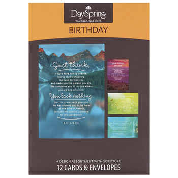 DaySpring, A New Year Birthday Cards, by Roy Lessin, 12 Cards