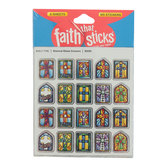 Tyndale, Faith that Sticks, Stained Glass Crosses Stickers, .50 x .75 Inches, Package of 120