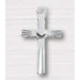H.J. Sherman, Cross With Heart Center Pendant, Sterling Silver, 18 inches
