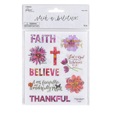 the Paper Studio, Stickabilities, Faith Floral Stickers, 2 Each of 9 Designs