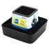 Storex, Modern Gloss Spinning Organizer, Black, 6 1/4 x 6 1/4 x 4 inches