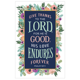 Salt & Light, Psalm 107:1 Give Thanks Church Bulletins, 8 1/2 x 11 inches Flat, 100 Count