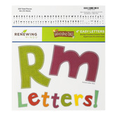 Woodland Tails Collection, Crooked Classic Bulletin Board Letters, Upper and Lowercase, 4 Inches, Burlap, 220 Pieces