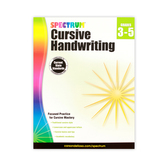 Spectrum Cursive Handwriting Workbook, Paperback, 96 Pages, Grades 3-5