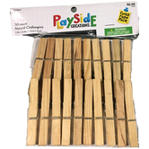Playside Creations, Natural Clothespins, 3.25 x .25 Inches, Natural Color, 50 Count