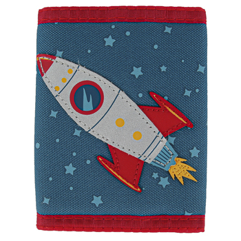 Stephen Joseph, Rocket Ship Tri-Fold Wallet, Ages 3 to 6 Years Old, 3 1/2 x 4 1/2 inches