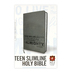 NLT Teen Slimline Bible, Duo-Tone, Charcoal