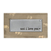 Designs Direct Creative Group, And I Love You Wall Plaque, 4 x 7 x 1 inches