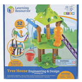 Learning Resources, Tree House Engineering and Design Building Set, Multi-Colored, Ages 5 Years and Older, 52 Pieces