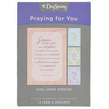 DaySpring, Jesus Is The Light Praying For You Boxed Cards, 12 Cards with Envelopes