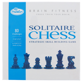 ThinkFun, Brain Fitness Solitaire Chess, 10 Pieces, Ages 8 and Older
