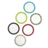 Isabella Collection, Large Cutouts, 6-Inch Circles, 6 Assorted Designs, 36 Pieces