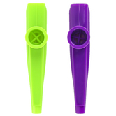 Westco, Plastic Kazoo, Assorted Colors Lime Green or Purple, 4.75 X .75 x 1 Inches, 1 Piece, Ages 3-5 years