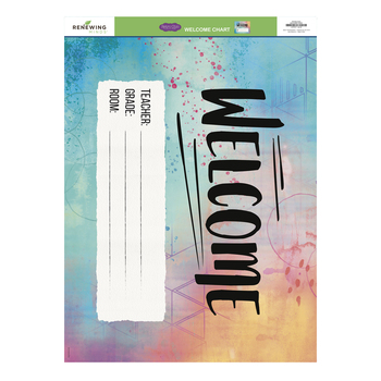 Retro Chic Collection, Customizable Welcome Chart, 22 x 17 Inches, Multi-Colored