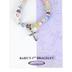 H.J. Sherman, Babys First Bracelet with Cross, Pink, Stretch