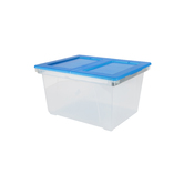 Storex, File Tote with Easy Access Lid, Clear Base, Opaque Lid, 19.25 x 15.6 x 10.9