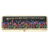 Natural Life, I Have Decided To Be Happy Daily Pill Box, 1 3/4 x 4 1/2 x 1 inches