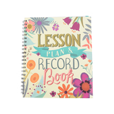 Renewing Minds, Floral Lesson Plan & Record Book, Spiral, Multi-Colored, 160 Pages