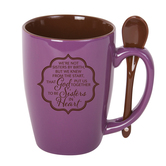 Sisters In Heart Mug With Spoon