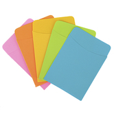 Top Notch Teacher Products, Brite Library Pockets, Assorted Colors, Pack of 35