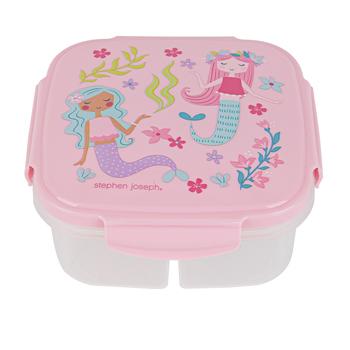 Stephen Joseph, Mermaid Snack Box with Ice Pack, Plastic, 6 x 6 x 2 1/2 inches