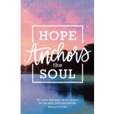 Salt & Light, Hebrews 6:19 Hope Anchors The Soul Church Bulletins, 8 1/2 x 11 inches Flat, 100 Count