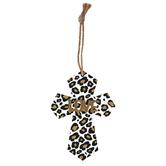 Love Leopard Print Mini Wall Cross, MDF, 5 1/2 x 4 inches