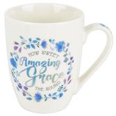 Christian Art Gifts, Amazing Grace Coffee Mug, Ceramic, 12 ounces